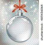 vector realistic transparent... | Shutterstock .eps vector #485436064
