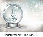 vector realistic transparent... | Shutterstock .eps vector #485436217