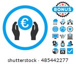 euro insurance hands icon with... | Shutterstock .eps vector #485442277