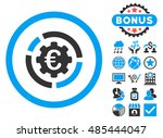 euro diagram options icon with... | Shutterstock .eps vector #485444047