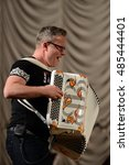 Small photo of SEVASTOPOL, REPUBLIC OF CRIMEA - MARCH 11, 2015: Russian musician, accordionist Sergei Voitenko.