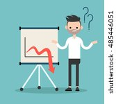 business trouble concept ... | Shutterstock .eps vector #485446051