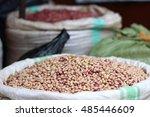 a basket full of organic beans... | Shutterstock . vector #485446609