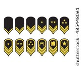 vector illustration epaulets ... | Shutterstock .eps vector #485448061