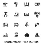 vector machine tool icons set.... | Shutterstock .eps vector #485450785