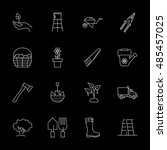 vector gardening icon set on... | Shutterstock .eps vector #485457025