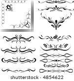 calligraphical figures created... | Shutterstock . vector #4854622