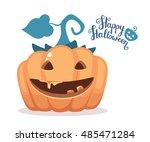 vector halloween illustration... | Shutterstock .eps vector #485471284