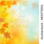 enjoy autumn sales banner with...   Shutterstock .eps vector #485475001