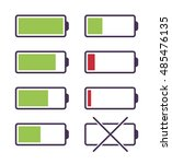 set of battery charge icons....   Shutterstock .eps vector #485476135
