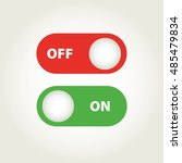 toggle switch icon  on  off... | Shutterstock .eps vector #485479834