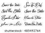 save the date various written...   Shutterstock .eps vector #485492764