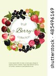 vector mix berry vertical... | Shutterstock .eps vector #485496169
