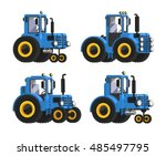 Blue Vector Tractor Set....