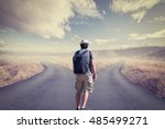 concept of choice with... | Shutterstock . vector #485499271