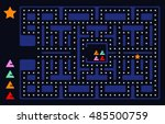 old arcade video game design.... | Shutterstock .eps vector #485500759