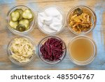 a set of fermented food great... | Shutterstock . vector #485504767