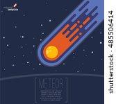 flame meteorite icon. flat... | Shutterstock .eps vector #485506414
