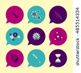 vector flat icons set   science ...