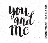 conceptual hand drawn phrase... | Shutterstock .eps vector #485515585