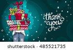 happy birthday or christmas... | Shutterstock .eps vector #485521735