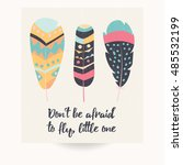 postcard design with... | Shutterstock .eps vector #485532199