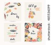 postcard design with... | Shutterstock .eps vector #485536099