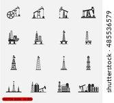 oil offshore platform... | Shutterstock .eps vector #485536579