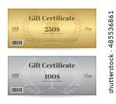 elegant gift certificate or... | Shutterstock .eps vector #485536861
