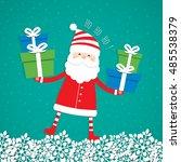 christmas background. santa... | Shutterstock .eps vector #485538379