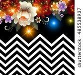 elegant shining flower card... | Shutterstock .eps vector #485538937