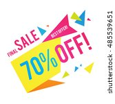 sale banner template. best... | Shutterstock .eps vector #485539651