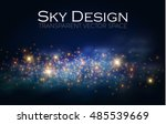 magic space. fairy dust.... | Shutterstock .eps vector #485539669