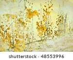 yellow flower grunge art... | Shutterstock . vector #48553996