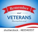 veterans day illustration.... | Shutterstock .eps vector #485540557