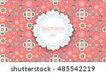 elegant oriental seamless... | Shutterstock .eps vector #485542219