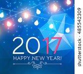 elegant new 2017 year... | Shutterstock .eps vector #485542309