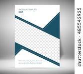 flyer design template | Shutterstock .eps vector #485543935