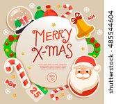 merry christmas elements   ... | Shutterstock .eps vector #485544604