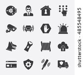 security vector icon | Shutterstock .eps vector #485548495