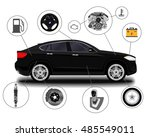 car system. spare parts.... | Shutterstock .eps vector #485549011