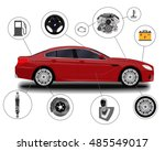 car system. spare parts.... | Shutterstock .eps vector #485549017