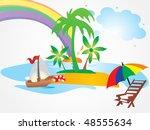 summer holiday vector | Shutterstock .eps vector #48555634