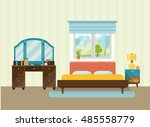interior space bedroom with a... | Shutterstock .eps vector #485558779