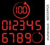 set of digital number... | Shutterstock .eps vector #485559925