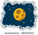 moon   Shutterstock .eps vector #48556510