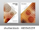 brochure layout template flyer... | Shutterstock .eps vector #485565259
