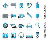 car part and services icons 2   ... | Shutterstock .eps vector #485565601