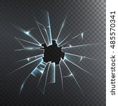 accidentally broken frosted... | Shutterstock . vector #485570341