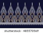 geometric ethnic pattern design ... | Shutterstock .eps vector #485570569